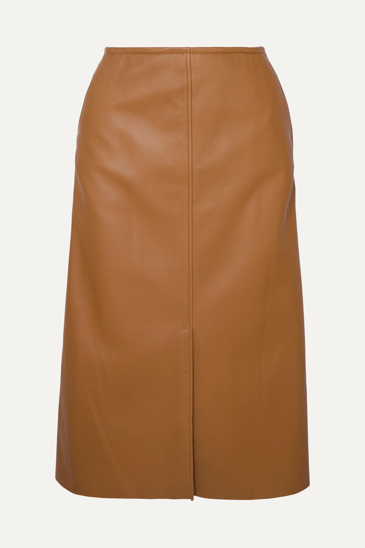 Joseph Iden leather midi skirt