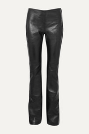 Joseph Kent leather straight-leg pants