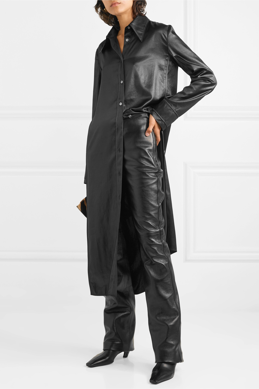 Joseph Kent leather straight-leg pants