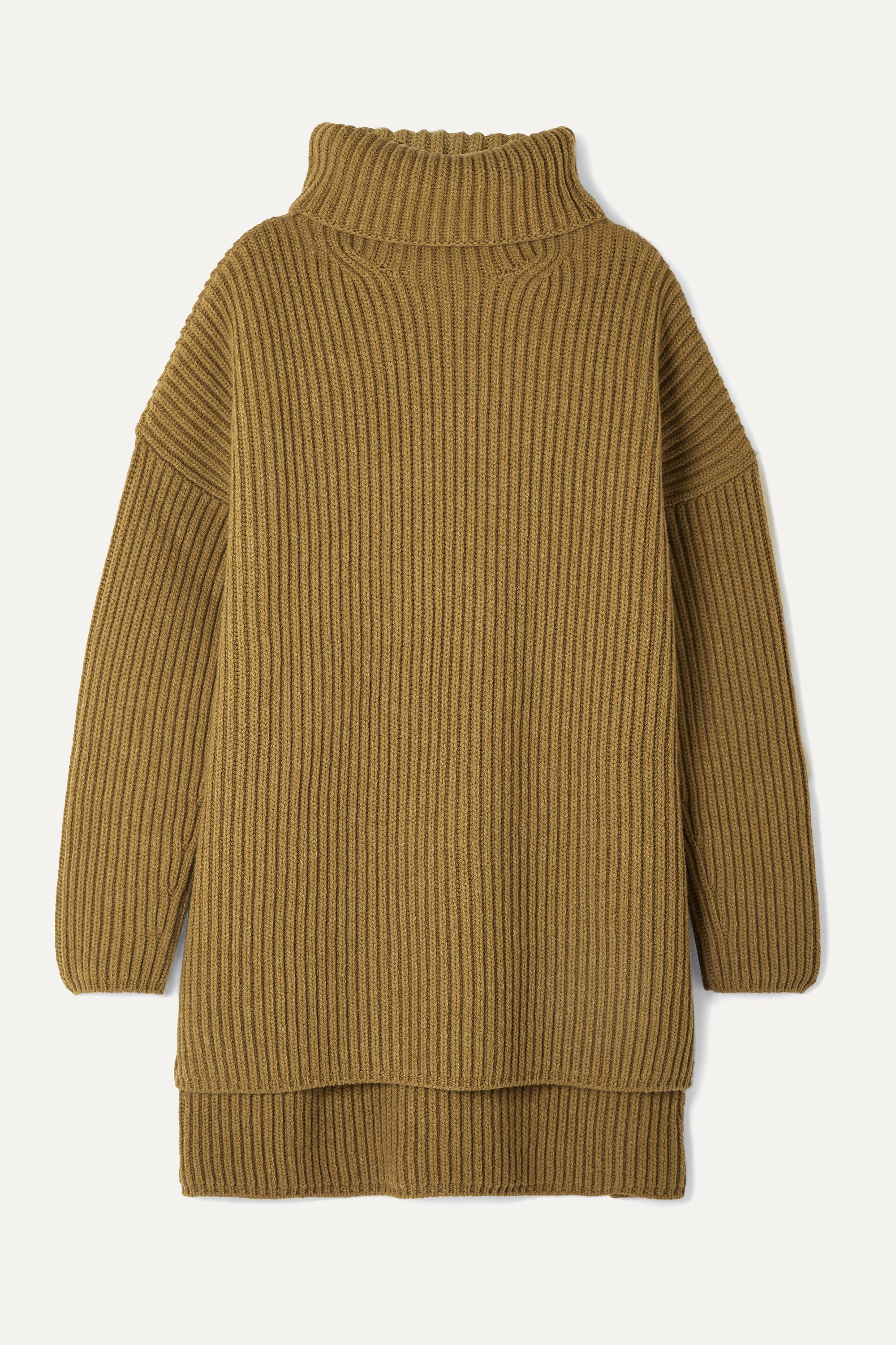 Joseph Oversized ribbed merino wool turtleneck sweater