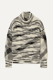 Painted merino wool-blend turtleneck sweater