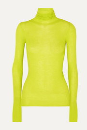 Joseph Neon ribbed cashmere turtleneck sweater