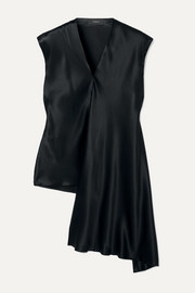 Joseph Ewyn draped asymmetric silk-satin top