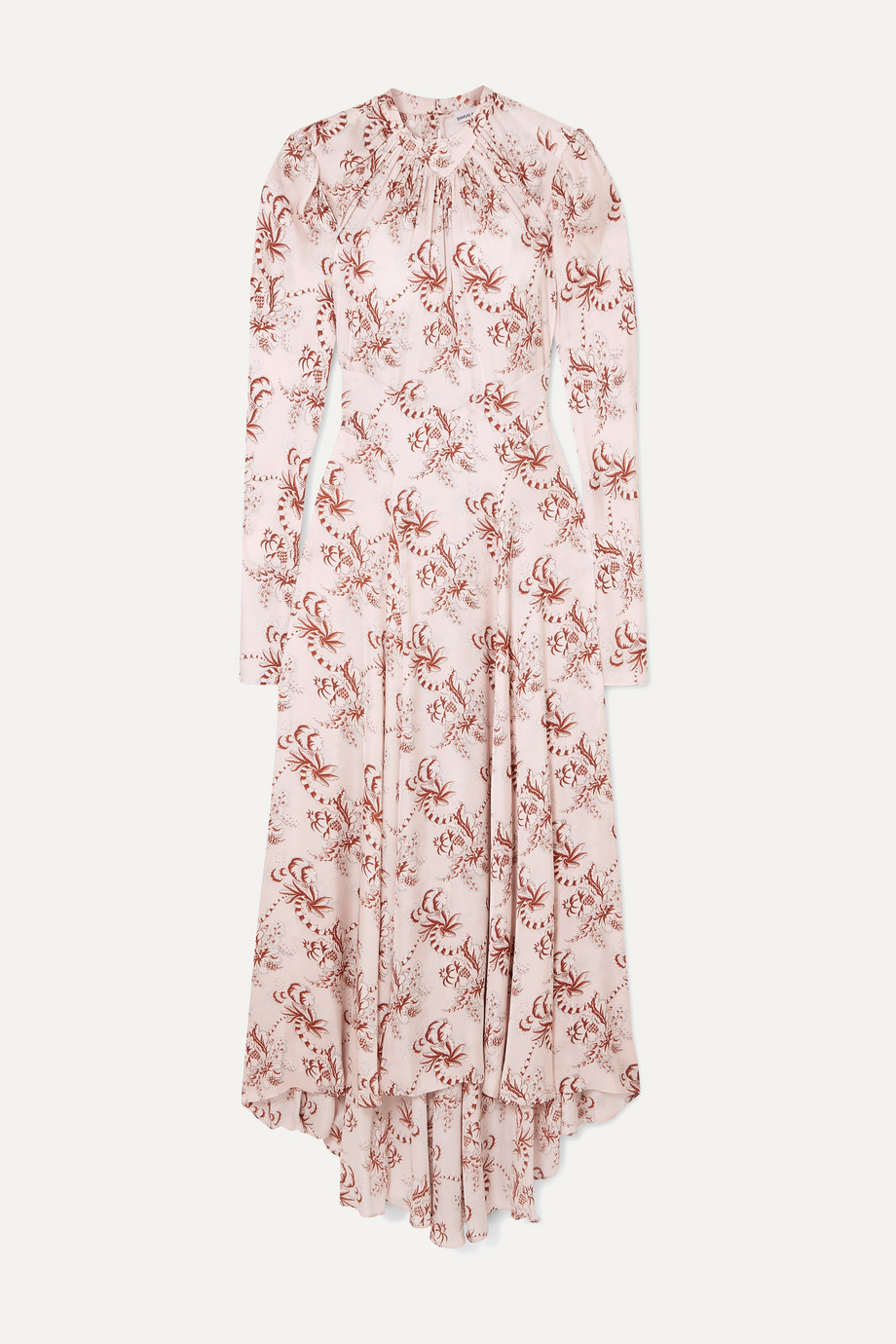 Paco Rabanne | Floral-print satin midi dress | NET-A-PORTER.COM