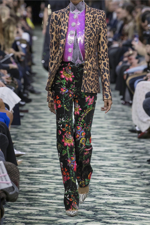 Paco Rabanne 花卉印花棉质混纺天鹅绒窄腿裤
