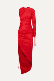 David Koma One-shoulder ruched satin dress