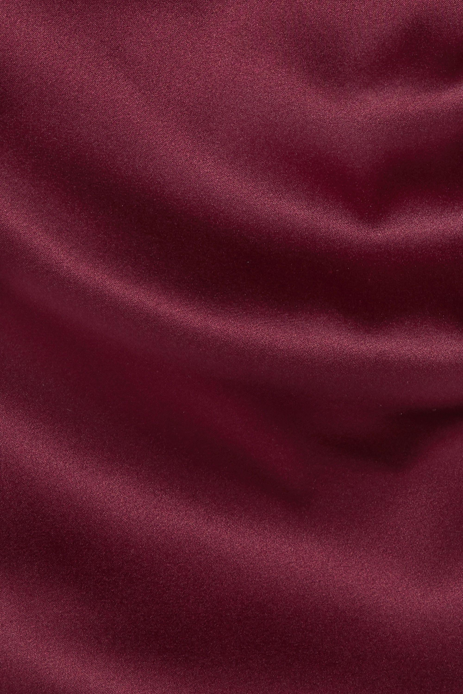 Alexandre Vauthier Ruched tie-detailed silk-blend satin mini dress