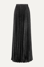 Philosophy di Lorenzo Serafini Pleated glittered tulle maxi skirt