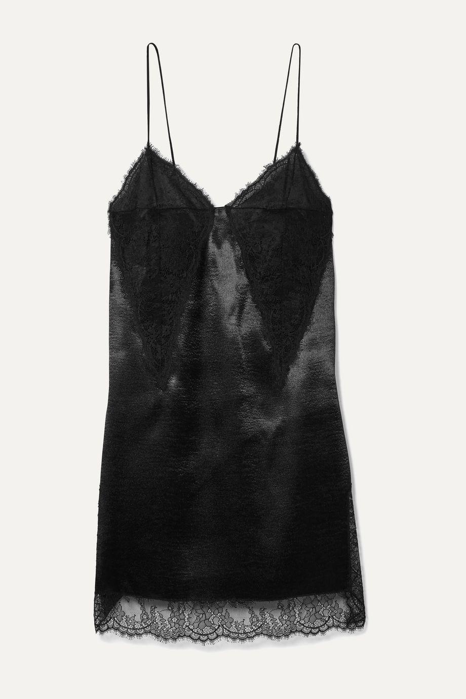 Philosophy di Lorenzo Serafini Lace-paneled satin mini dress