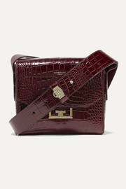 Eden small croc-effect leather shoulder bag