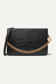 GV Cross croc-effect and smooth leather shoulder bag