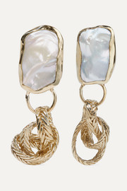 STVDIO Isabella gold-tone pearl earrings