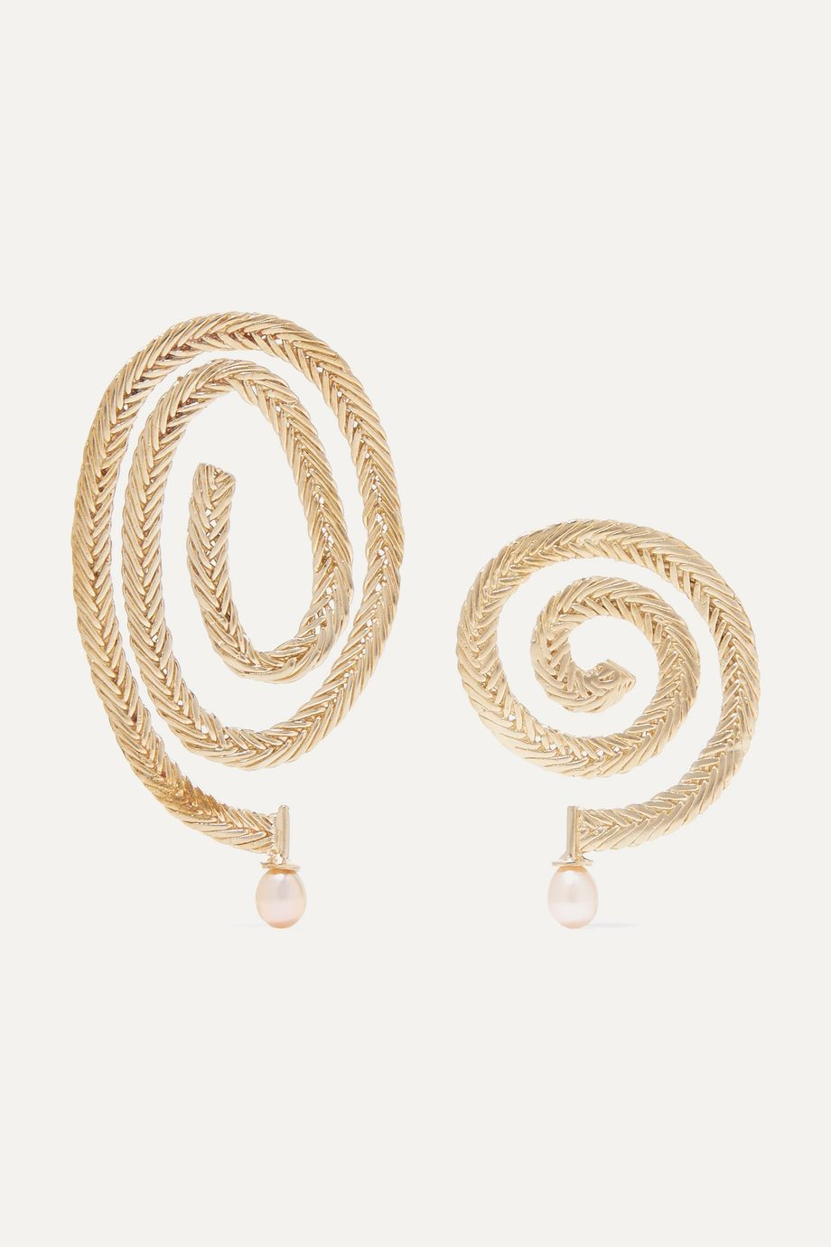 STVDIO Delfina gold-tone pearl earrings