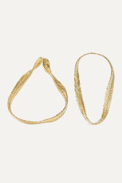 Marguerite Gold Tone Earrings by Stvdio