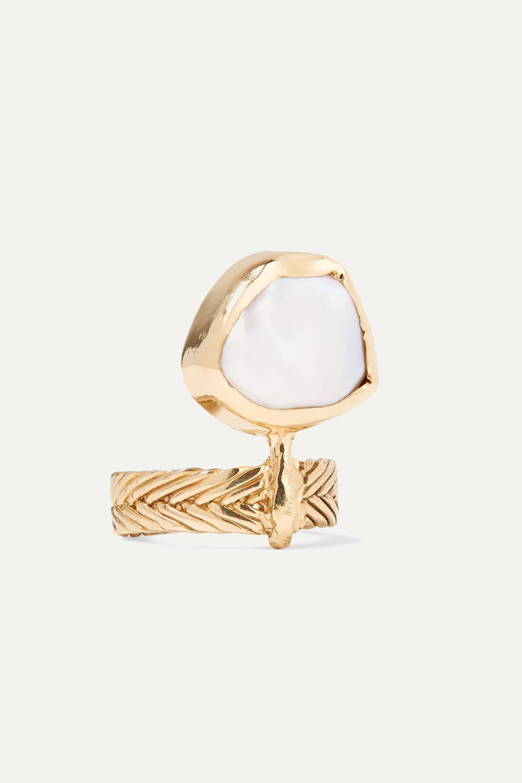 STVDIO Marina gold-tone pearl ring