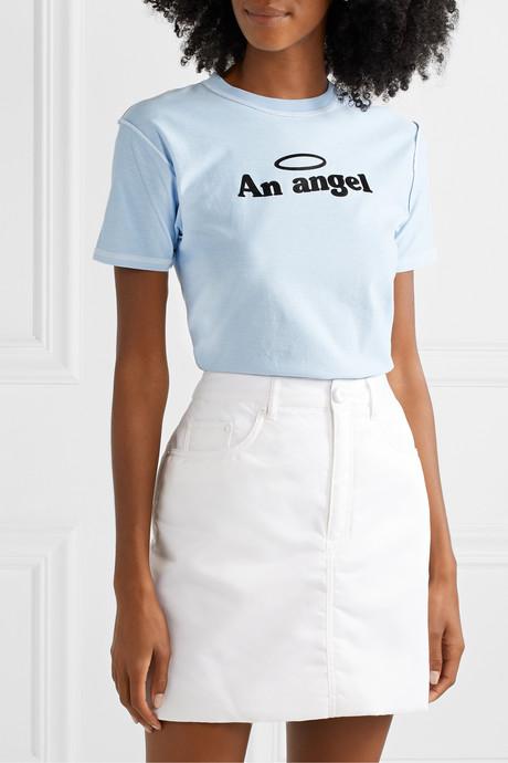 An Angel cotton-jersey T-shirt