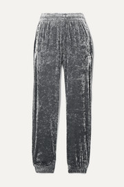 BLOUSE Sleepy Boy crushed-velvet track pants