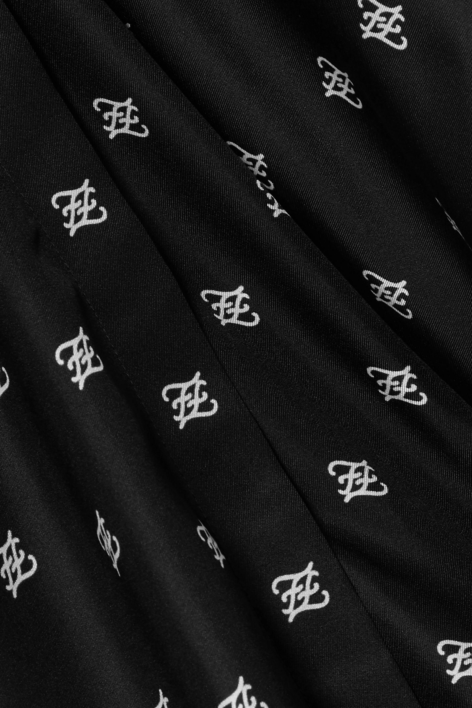 Fendi Printed silk-twill dress