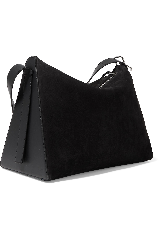 Loewe Berlingo leather-trimmed suede shoulder bag