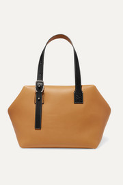 Cube two-tone leather tote