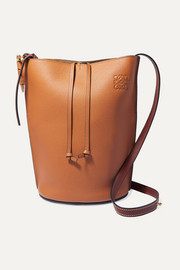 Gate textured-leather bucket bag