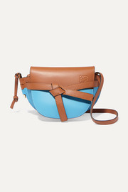 Gate mini two-tone leather shoulder bag
