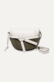 Loewe Gate small two-tone leather shoulder bag