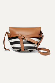 Loewe Gate small striped leather shoulder bag