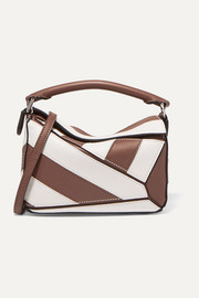 Loewe Puzzle mini two-tone textured-leather shoulder bag