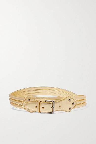 Metallic Leather Waist Belt by Alaïa