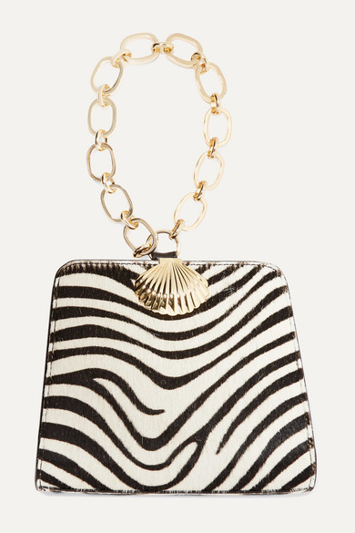 Amelie Zebra Print Calf Hair Tote by Rixo