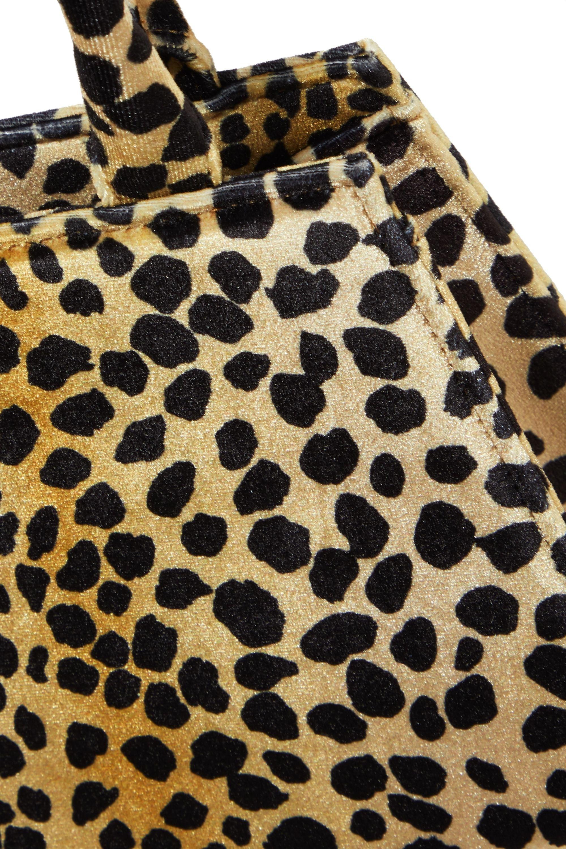 RIXO Dora animal-print velvet tote