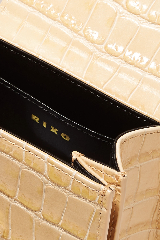 RIXO Violet croc-effect leather tote