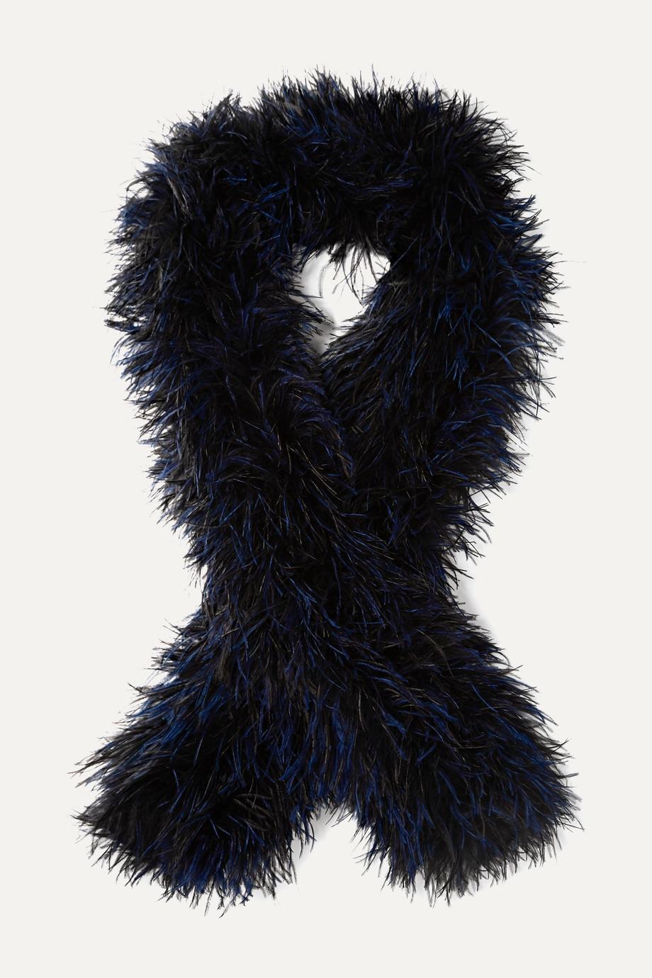 Loewe Oversized feather scarf