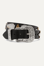 Isabel Marant Derin embellished leather belt