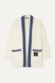 Maje Millenium oversized appliquéd knitted cardigan