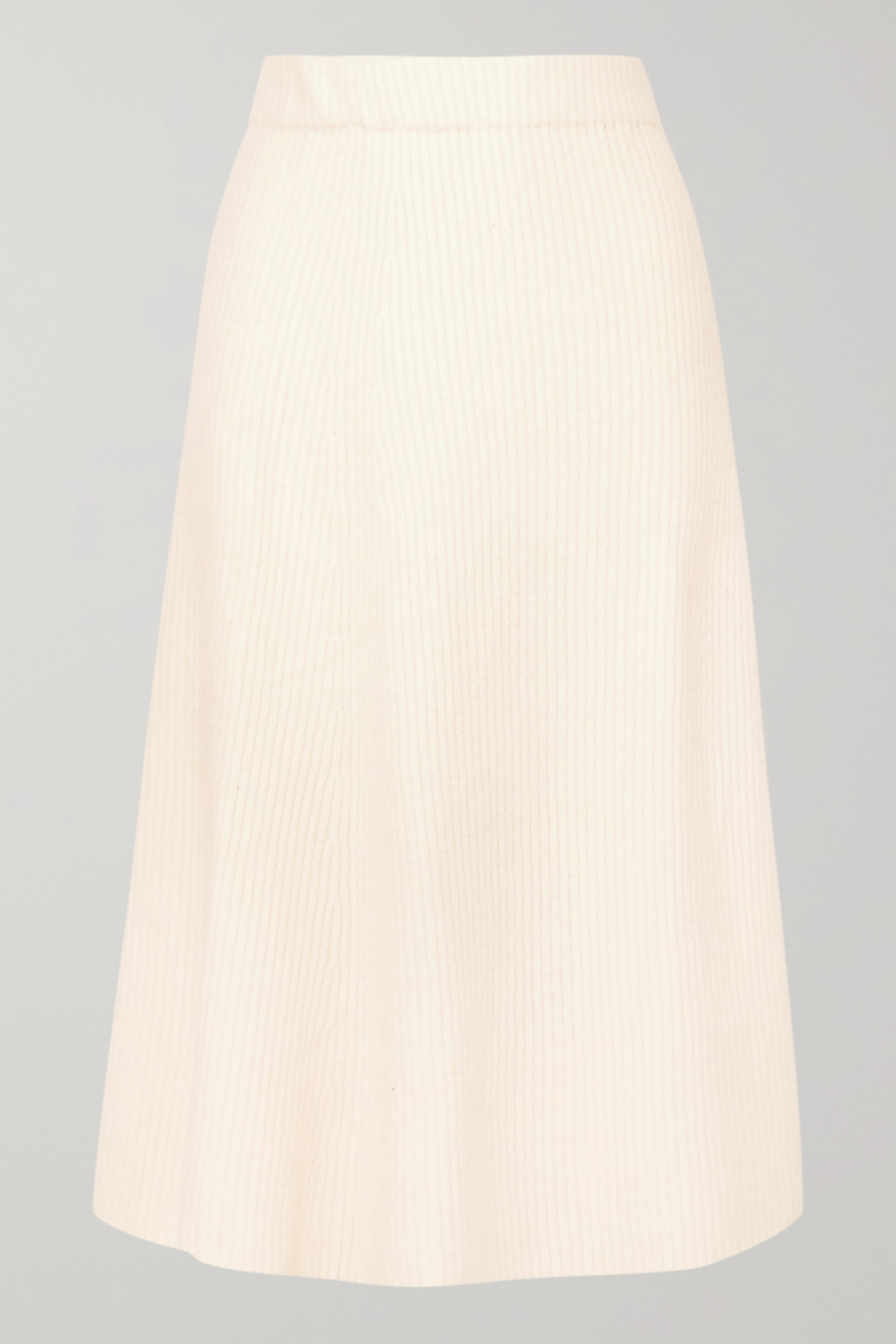 Maje Jessy ribbed-knit midi skirt