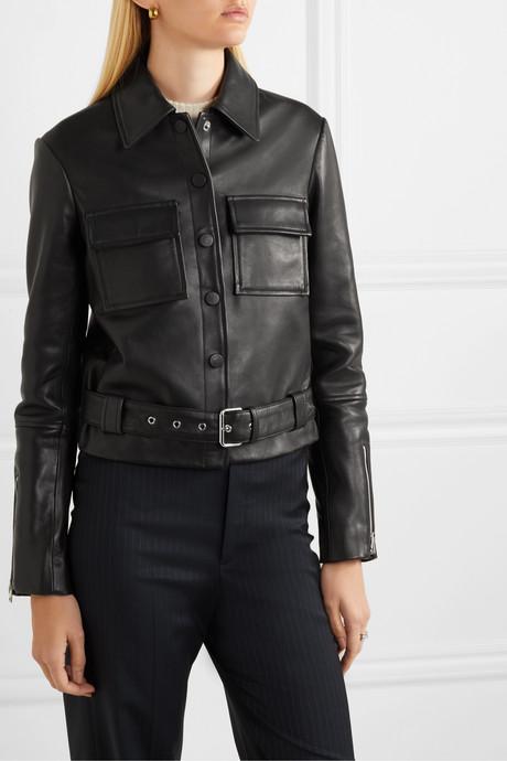 Lizalia leather jacket