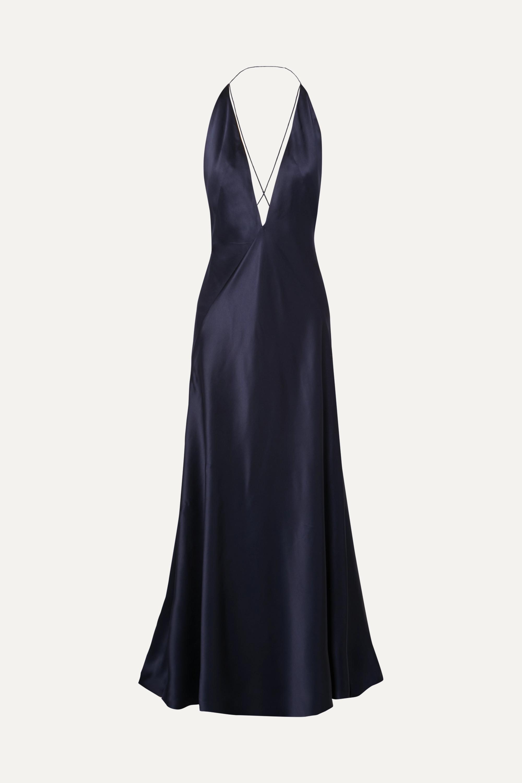 what to wear fall wedding - Michael Lo Sordo Alexandra silk-satin gown