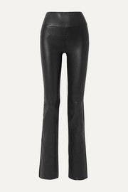 SPRWMN Leather flared pants