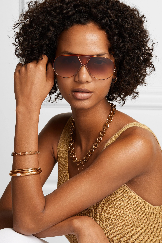 Chloé Willis aviator-style gold-tone sunglasses