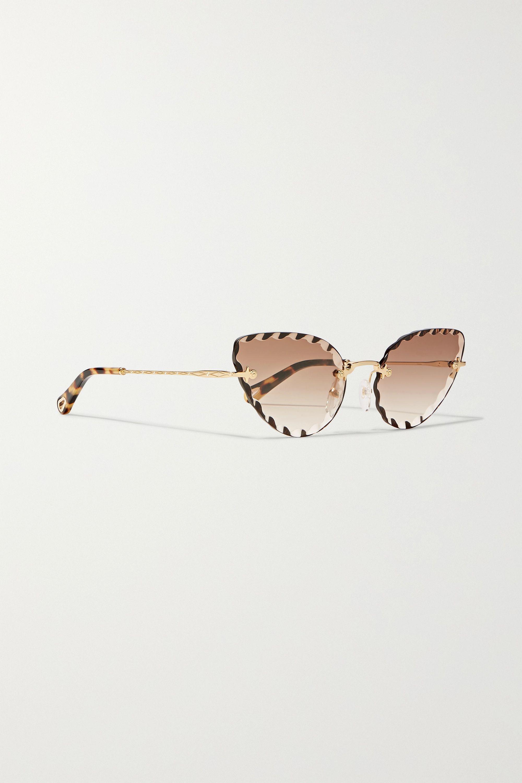 Chloé Rosie cat-eye gold-tone and tortoiseshell acetate sunglasses