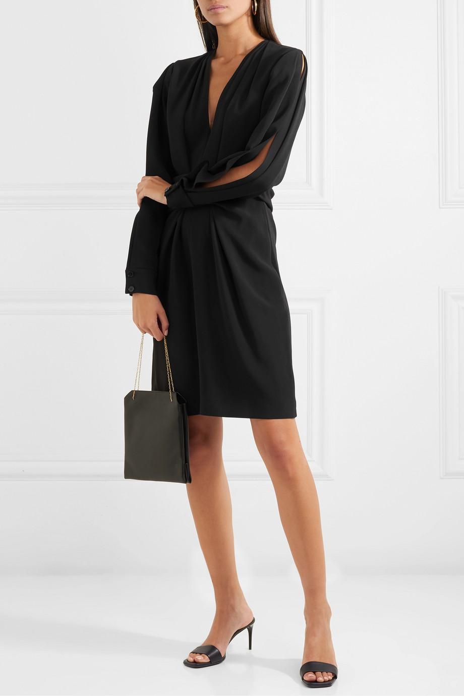 Stella McCartney + NET SUSTAIN tie-detailed cady dress