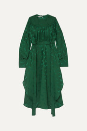 Stella McCartney + NET SUSTAIN belted jacquard dress