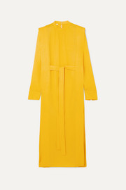 Stella McCartney + NET SUSTAIN belted cady midi dress