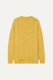 Stella McCartney Oversized cable-knit alpaca-blend sweater