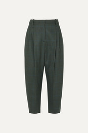 Stella McCartney Cropped Prince of Wales checked wool-blend pants
