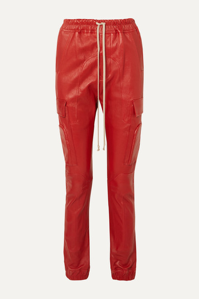 Rick Owens Pants Leather track pants