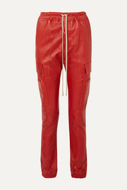 Rick Owens Leather track pants