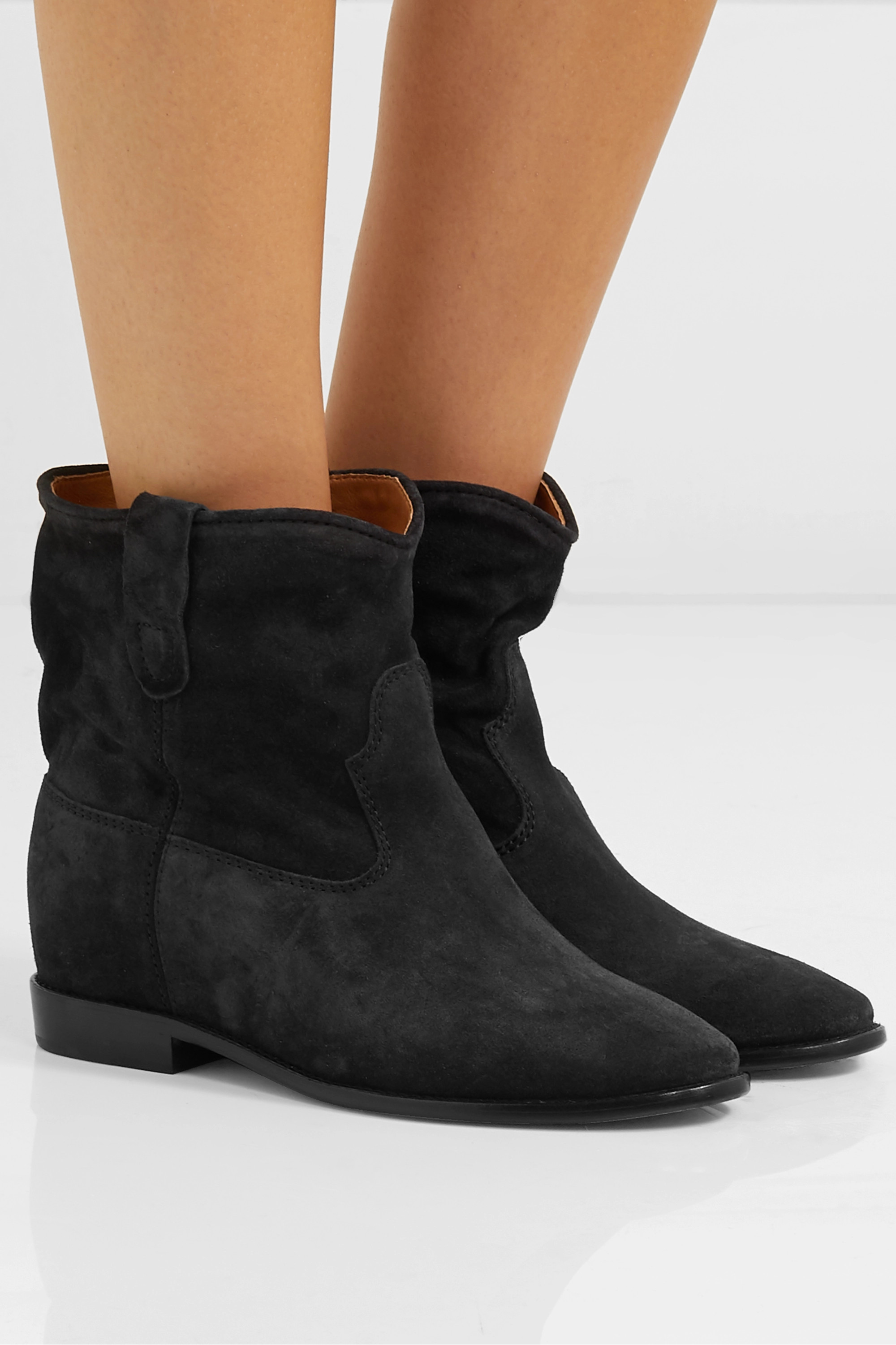 Black Crisi suede ankle boots   Isabel